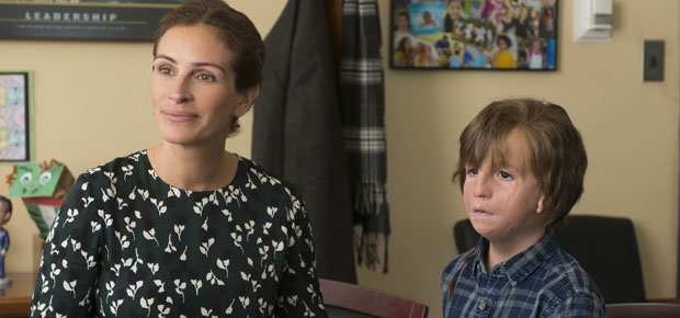Julia Roberts and Jacob Tremblay in Wonder. (AP)