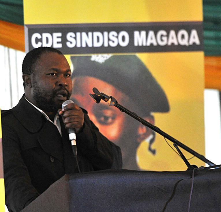 Thabiso Zulu is a friend of former ANC Youth League secretary-general Sindiso Magaqa, who was gunned down on 13 July. Photo:   Jabulani Langa