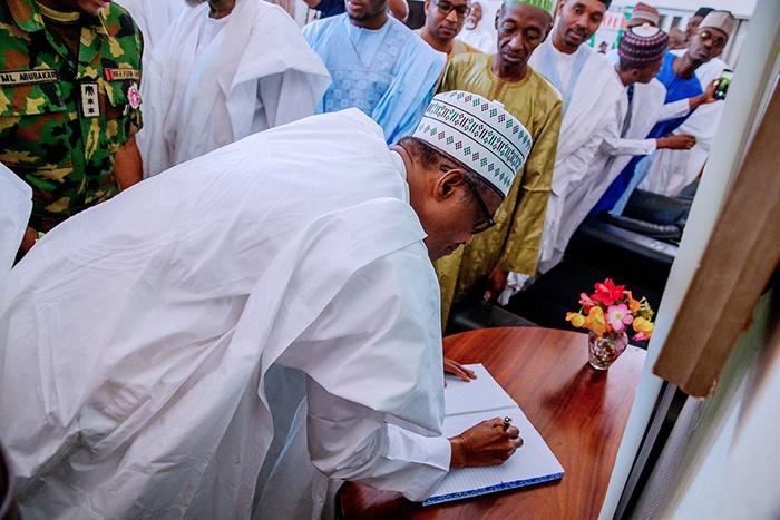 President Muhammadu Buhari visits Shehu Shagari's