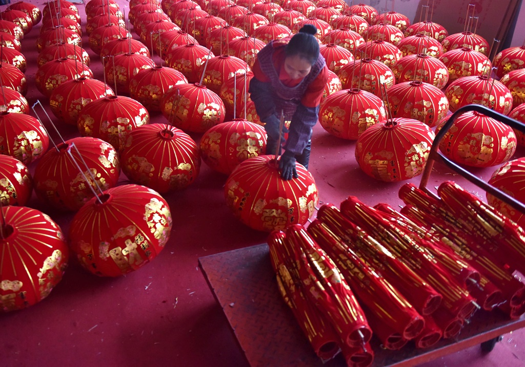 JINHUA, CHINA - DECEMBER 25: A Chinese worker make