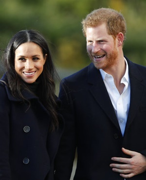 Britain's Prince Harry and his fiancee Meghan Markle. (Frank Augstein, AP)