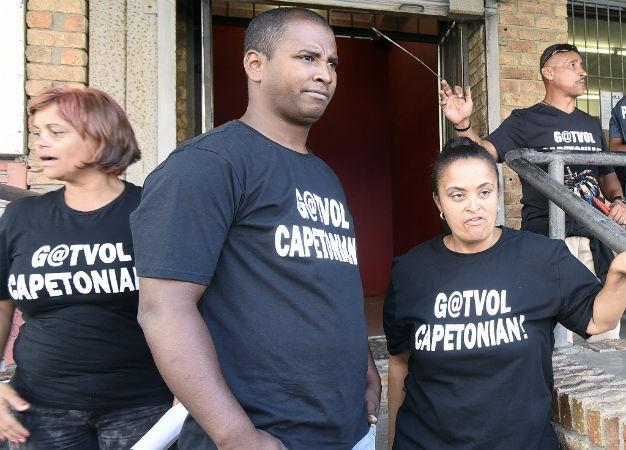 Civil activist group 'Gatvol Capetonians' protest outside the Department of Labour offices. (Brenton Geach, Gallo Images, file)