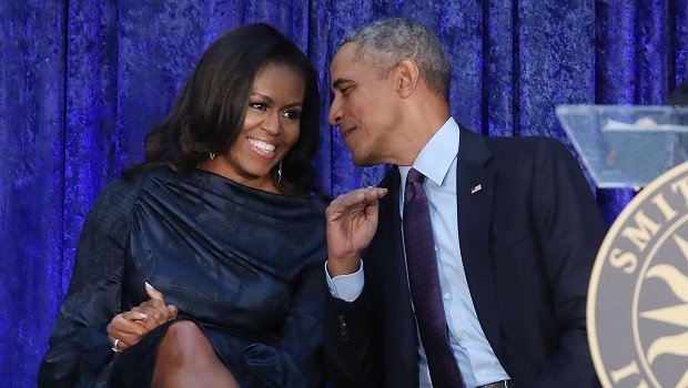 President Barack Obama and first lady Michelle Oba