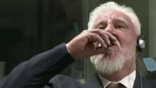 WATCH: Bosnian war criminal dies after drinking 'poison' in UN court