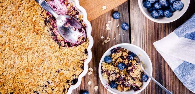 Blueberry apple and walnut baked oatmeal
