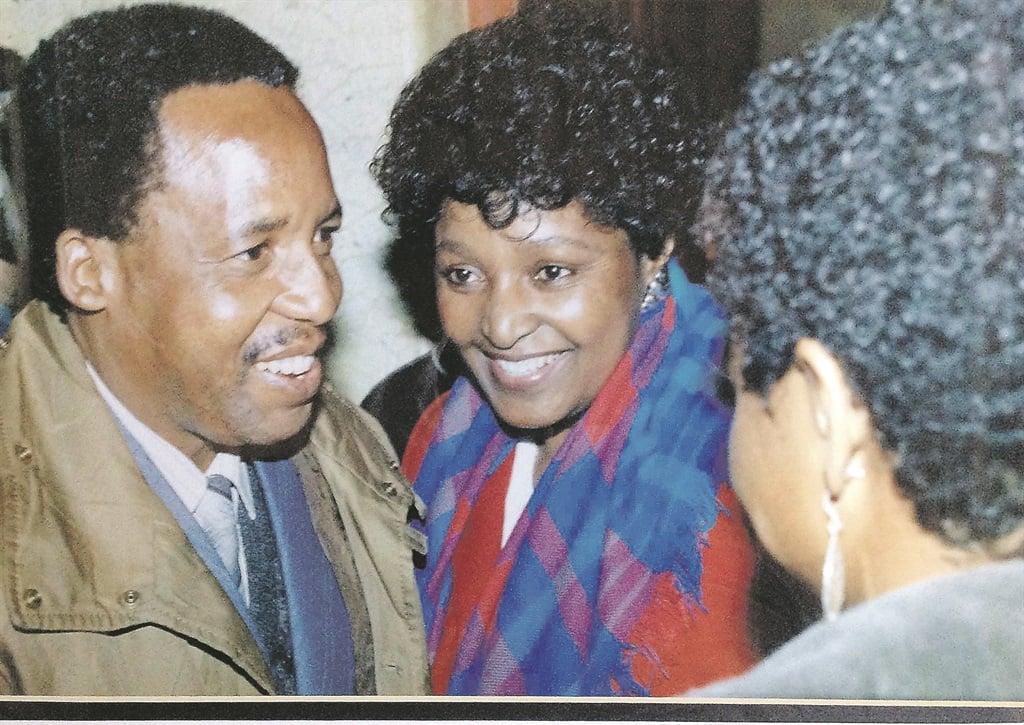 Chris Hani and Winnie Madikizela-Mandela in Lusaka in the 1980s Picture: Rashid Lombard