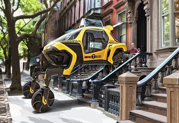 Hyundai Elevate Walking Car Concept yellow