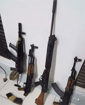 Some of the arms recovered by Limpopo police. (Photo by SA Police)