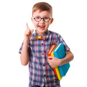 nerdy little boy