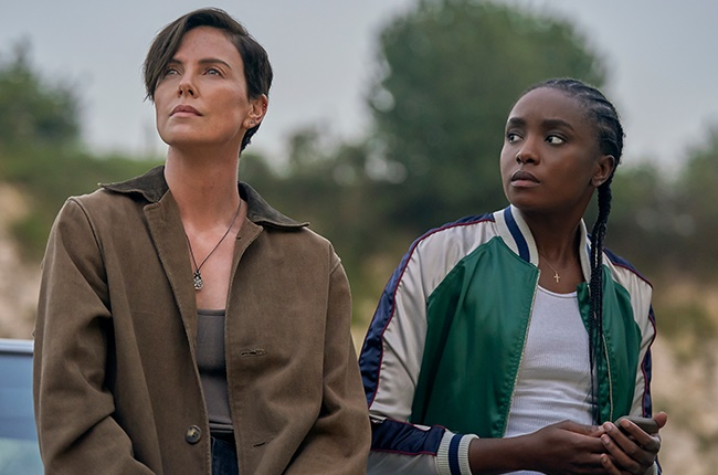 Charlize Theron and KiKi Layne in 'The Old Guard.'