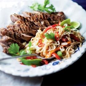 Grilled 5 Spice Pork Fillet With Noodles Food24