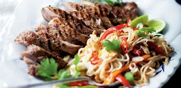 recipe, pork, noodles