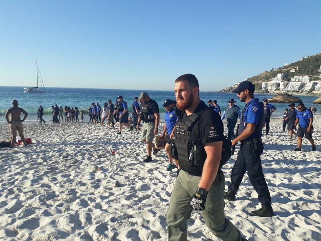 Security officers on the beach. (Supplied by PPA)
