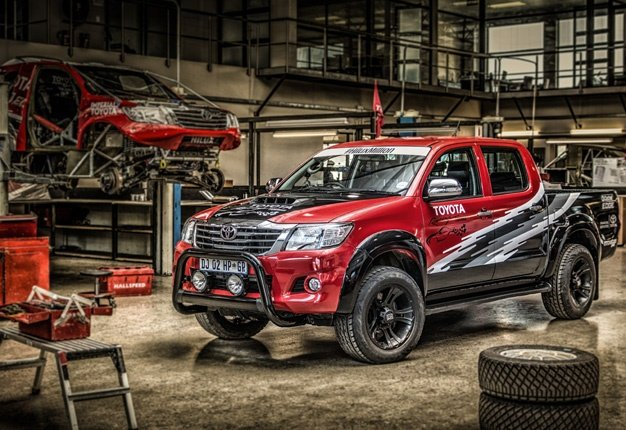 <b>THE MOST POWERFUL HILUX YET:</b> Toyota SA's motorsport division built this monster bakkie; a Hilux powered by a 5.0 litre V8 capable of 335kW/600Nm. <i>Image: Quickpic</i>