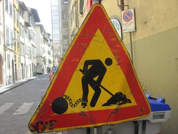 street art, road signs