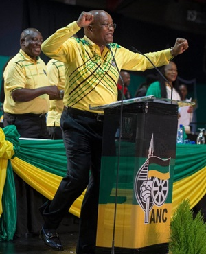 President Jacob Zuma during his address at the ANC's elective conference. (Deaan Vivier, Netwerk24)
