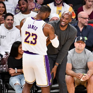 LeBron James and Kobe Bryant (Getty Images)