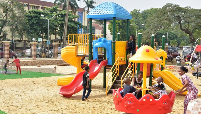 New park for children at Christmas