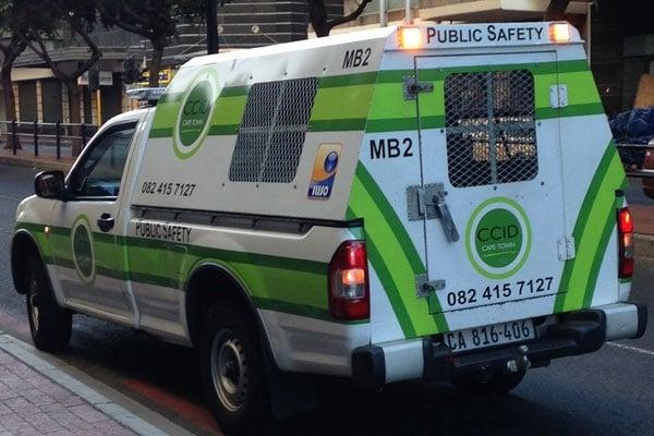 A CCID van in Cape Town's CBD. (Duncan Alfreds, News24)