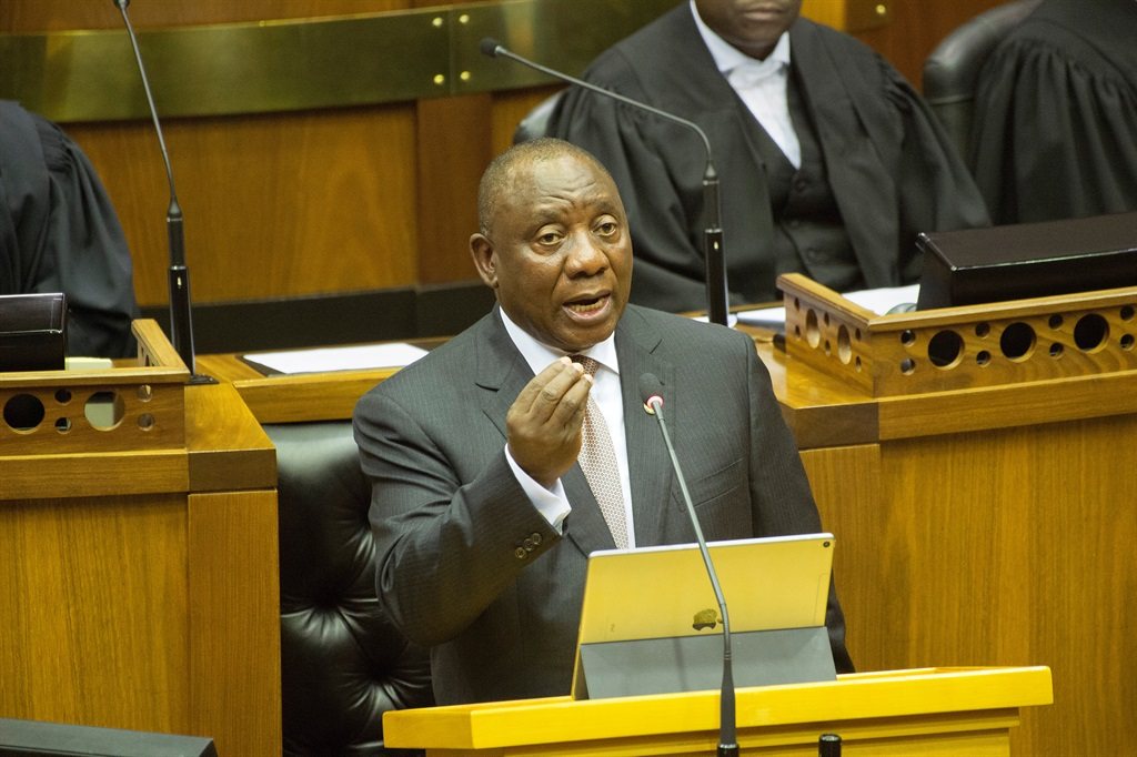 President Cyril Ramaphosa is expected to deliver his state of the nation address in Parliament this evening. Picture: Rodger Bosch/Pool/Reuters