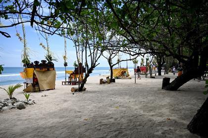 empty beach in bali