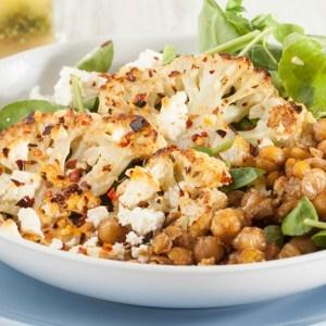 PHOTO: Roast cauliflower and chickpea salad