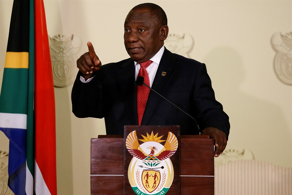 President Cyril Ramaphosa announces his Cabinet on Wednesday, 29 May 2019. (AFP/Phillip Magakoe)
