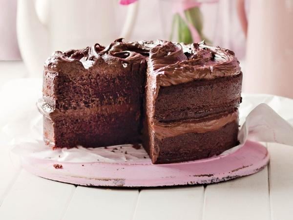 Sjokolade-fudgekoek