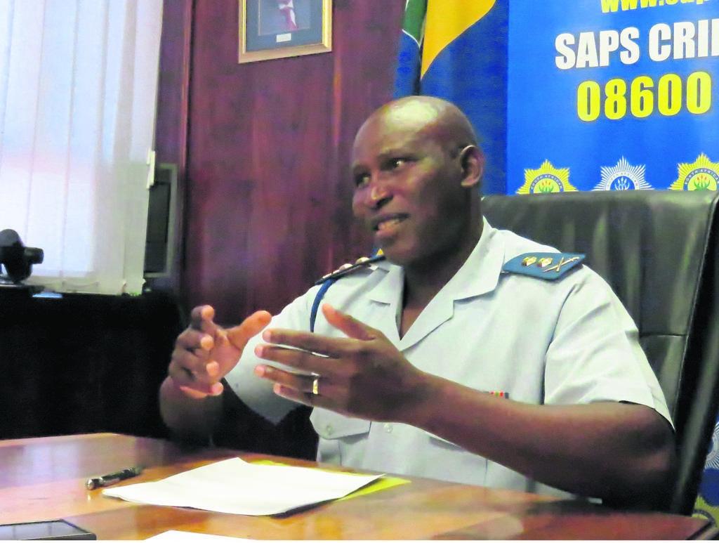 Genl.maj. Thembisile Patekile, die Mountweg-polisiegebied se nuwe bevelvoerder.                            Photo:Cara-Lee Dorfling