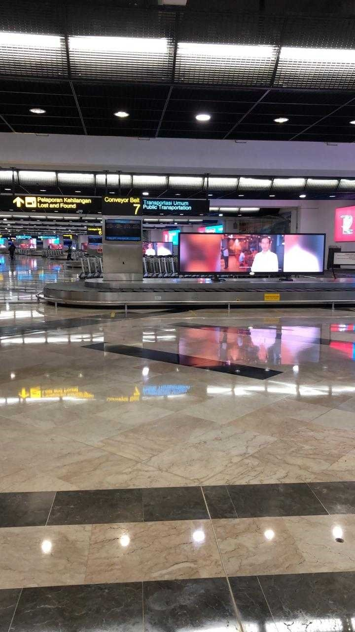 empty arrivals area in airport