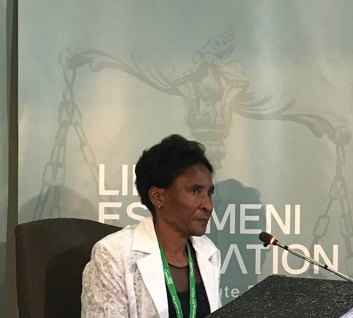 Gauteng Health Department's deputy director for mental health services Hannah Jacobus testfies at the Life Esidimeni arbitration hearing.PHOTO: