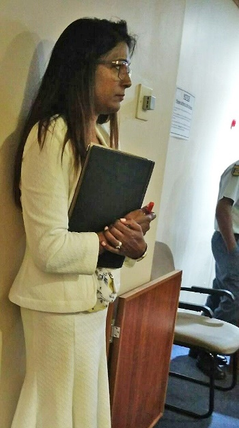 Vindra Jaickaran at the Durban Specialist Commercial Crimes Court on Monday.