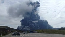 WATCH: Sped-up video shows Japan's Aso volcano erupting