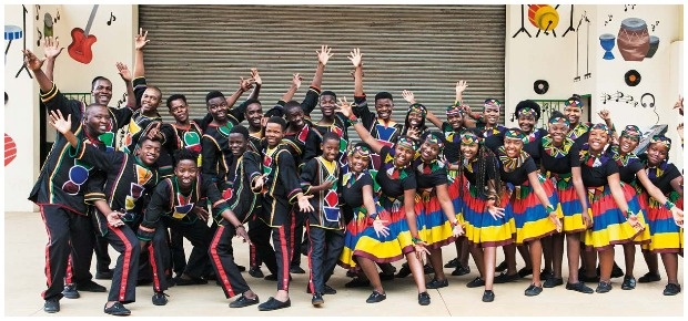 Ndlovu Youth Choir. (Photo: ROWYN LOMBARD)