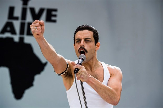 <p>Here's another look at Rami as the iconic singer Freddie Mercury.&nbsp;</p><p></p>