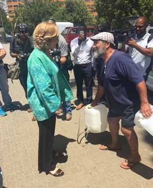 Western Cape Premier Helen Zille at the Newlands spring in Cape Town. (Tammy Petersen, News24)