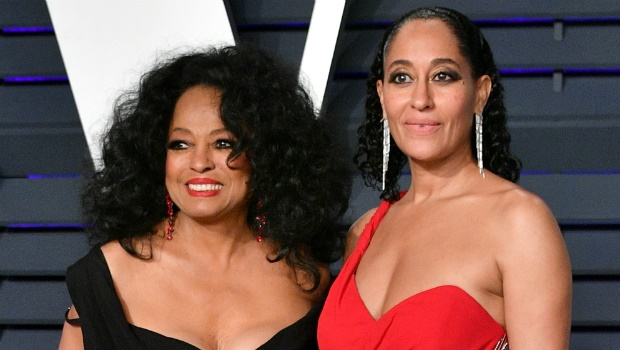Diana Ross and Tracee Ellis Ross arrive at the Vanity Fair Oscar party.
