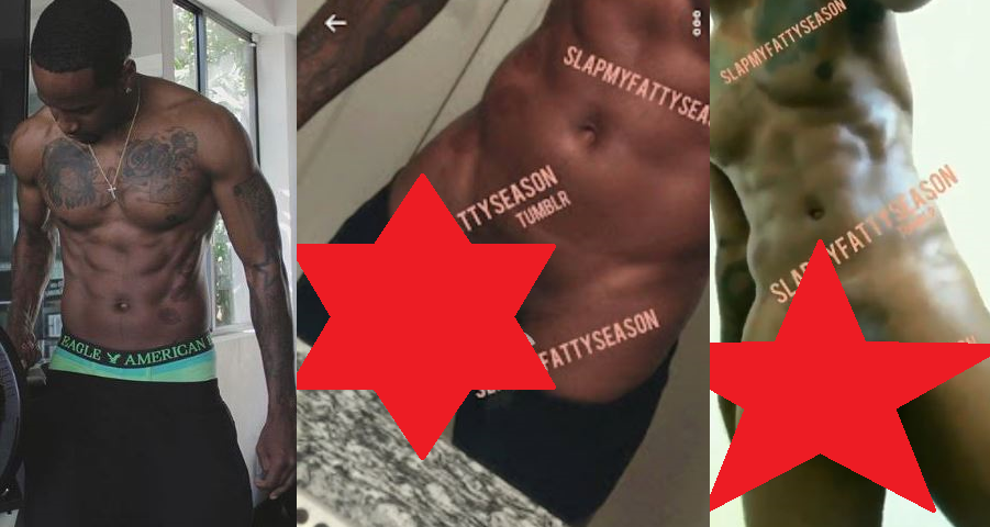 Compare the beard and tattoos in the image on the far left with the ones  from the leaked nudes.