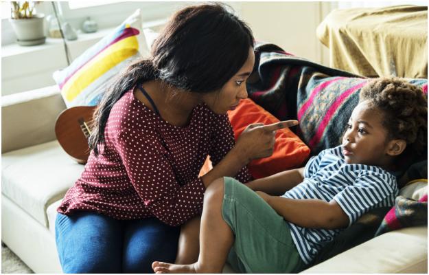 Parent disciplining child (PHOTO: Gallo images/ Getty images)