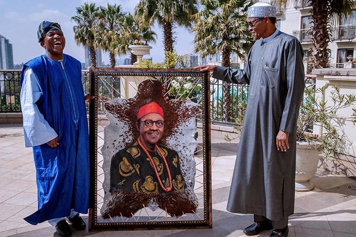 Muhammadu Buhari moments before he left Addis Abab