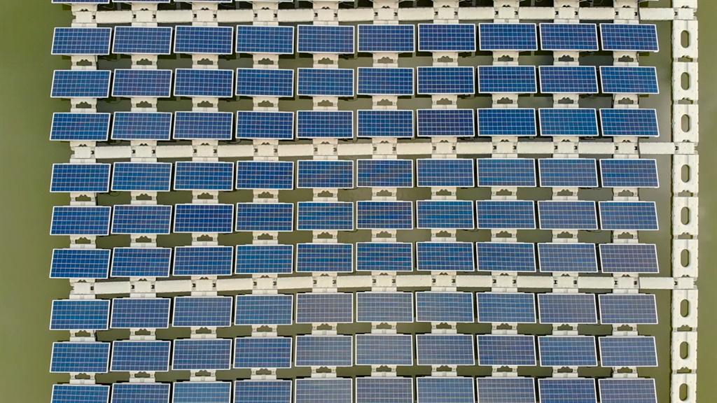Floating solar park