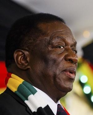 Zimbabwe President Emmerson Mnangagwa. (Jekesai Njikizana, AFP)