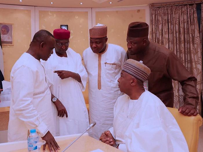 muhammadu buhari and national assembly leaders