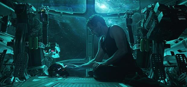Robert Downey Jr. in a scene from 'Avengers: Endga