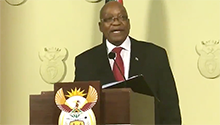 Watch the moment Jacob Zuma resigned as SA president