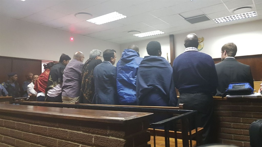 The accused in the Vrede dairy farm case appear in court for their bail applications on Thursday (February 15 2018). Picture: Tebogo Letsie/City Press