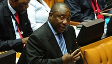 Watch as Cyril Ramaphosa is sworn in as SA president