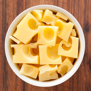 Bowl of yellow cheese