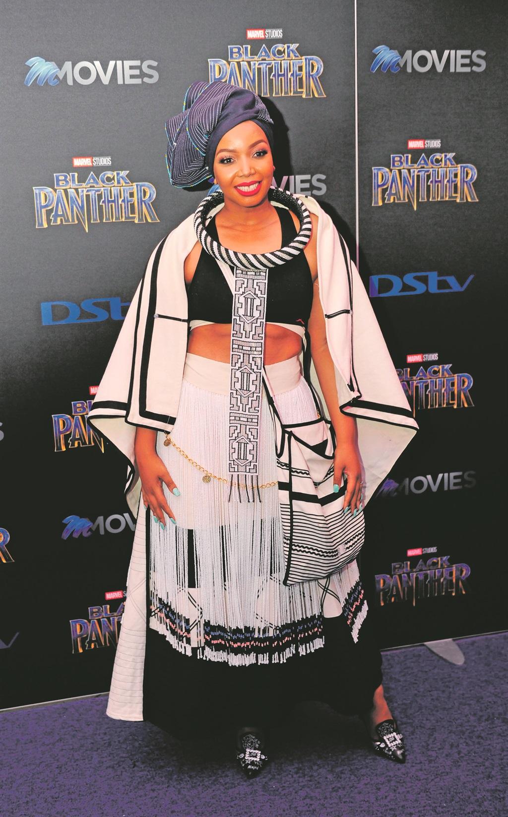 Sizzling fashion at Black Panther premiere