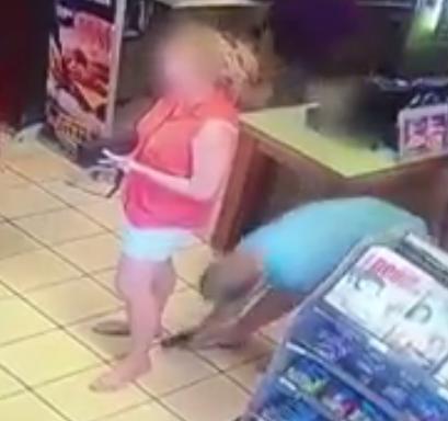 naked girl caught peeing
